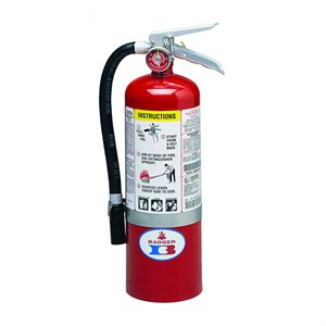 Fire Extinguisher, ABC Class, 5 lb, Wall Mount